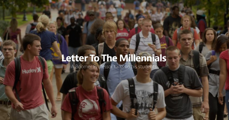 letter to the millennials